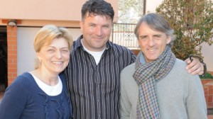 Mancini com a vidente Mirjana Dragicevic-Soldo