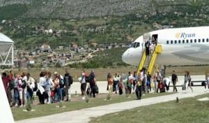 Peregrinos para Medjugorje desembarcando em Mostar
