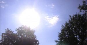 Foto do milagre do sol que Raffaella viu em Medjugorje