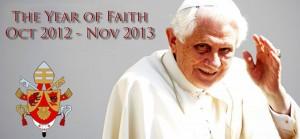 O Papa Bento XVI anunciou o Ano da Fé em 16 de outubro de 2011. Ela vai começar em 11 de outubro deste ano e termina em 24 de novembro de 2013