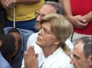 Mirjana durante a aparição. Foto: Rádio Maria