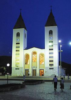 Igreja de São Tiago em Medjugorje - apontada por Vicka como o local de seu primeiro segredo.