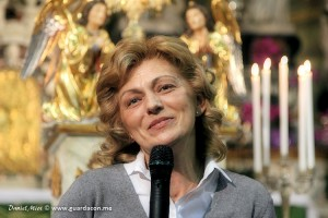 Mirjana em 9 de fevereiro, durante seu testemunho em Trieste, Itália. Foto: Daniel Miot, guardacon.me