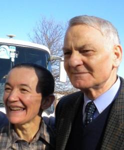 Vicka e seu grande amigo italiano, Giovanni Vecchiato.