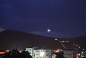 A última de uma seqüência de 8 imagens divulgadas pela Innovattivo que  fotógrafos capturaram a luz se movendo em 24 de maio de 2013.