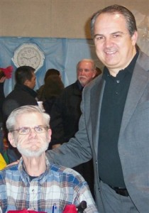 Scott com o vidente Ivan em 2009.