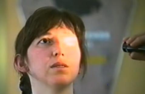 Testes oculares de Marija durante êxtases em 1998