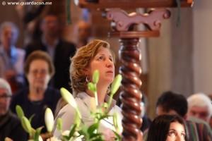 Marija durante a sua aparição em Lignano, Itália, em maio de 2011. Foto: Daniel Miot, guardacon.me