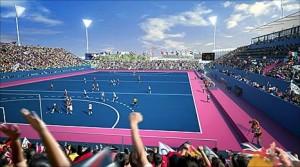 Arena Riverbank em Londres, o estádio de hóquei olímpico
