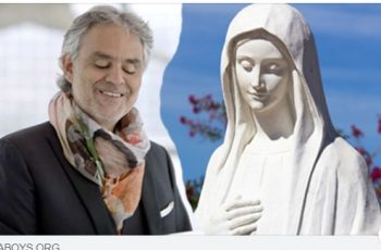 """Andrea Bocelli: """"Aquela viagem para Medjugorje mudou a minha vida !!!"""""""